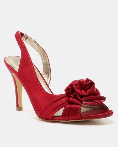 Queue Slingbacks With Rose Trim Red