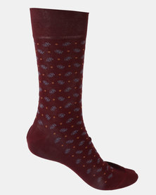 Falke Sensitive Paisley Socks Burgundy