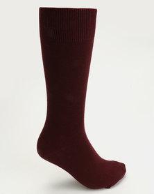 Falke Pure Cotton Socks Burgundy