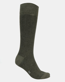 Falke Chevron Socks Green Pepper