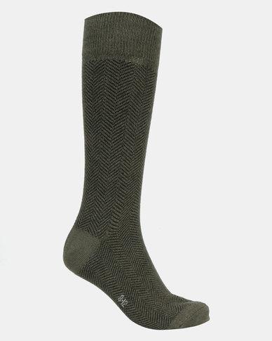 Falke Chevron Socks Green Pepper