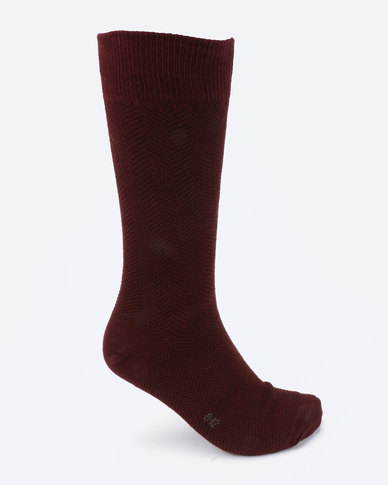 Falke Chevron Socks Burgundy