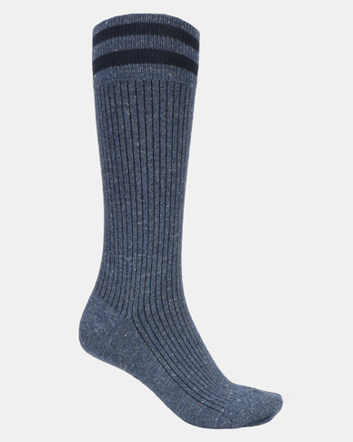Falke Tweed Rib Socks Ink