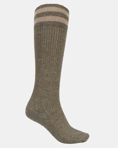 Falke Tweed Rib Socks Green Pepper