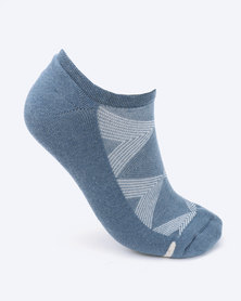 Falke Silver Cushion Socks Jeans Blue