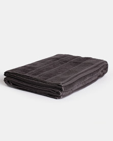 Linen House Selene Bath Sheet Carbon