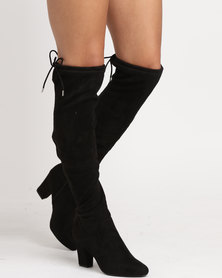 Call It Spring Culkin Pull-On Knee-High Boots Black