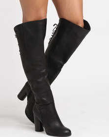 Call It Spring Loveralla Ladies Lace Up Boots Black