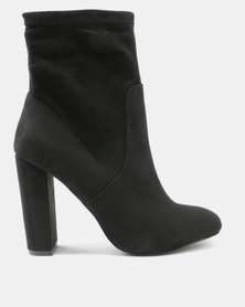 Call It Spring Piellan High-Heeled Ankle Boots Black Nubuck