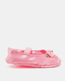 Fairy Shop Satin Baby Shoes Pink