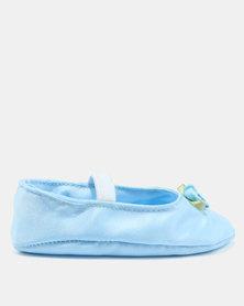 Fairy Shop Satin Baby Shoes Blue