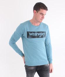 Wrangler Potato Stamp Sweatshirt Blue