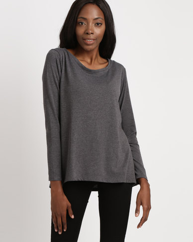 Utopia Relaxed Fit Tee Charcoal Melange