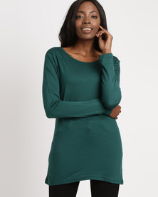 Utopia Longer Length Basic Tee Green