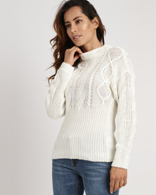 Utopia Cable Jumper Cream