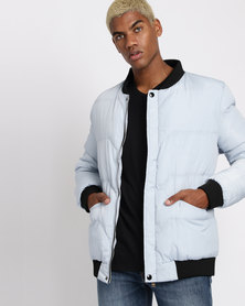 Utopia Mens Puffer Jacket Grey