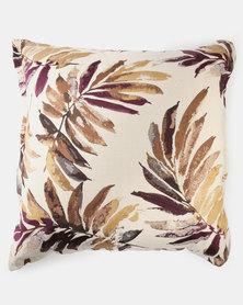 Grey Gardens Palm Cushion Purple