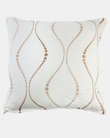Grey Gardens Linen Cushion Cream