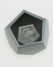 Grey Gardens Hex Mini Charcoal Vase