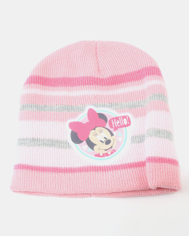 Character Brands Beanie & Mitten Set Minnie Mouse Pink