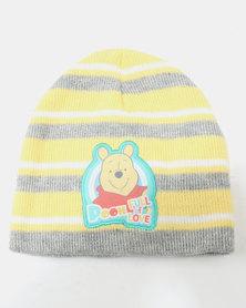 Character Brands Beanie & Mitten Set Winnie The Pooh Yellow