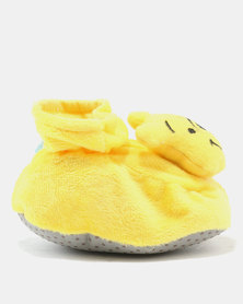 Character Brands Booties Winnie The Pooh Yellow
