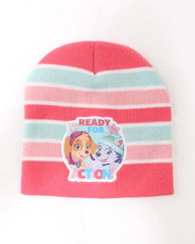 Character Brands Paw Patrol Girls Basic Beanie Pink Multi