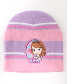 Character Brands Sofia The First Basic Beanie Pink Multi
