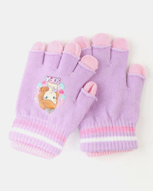 Character Brands Sofia The First 2 Pack Gloves Purple