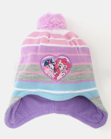 Character Brands  My Little Pony Trapper Beanie & Gloves Set Purple Multi