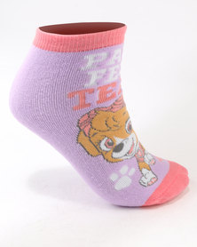 Character Brands Paw Patrol Girls Slipper Socks Purple Multi