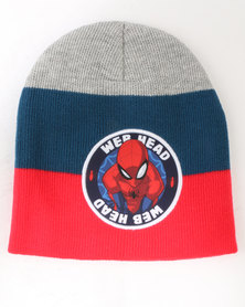 Character Brands Spider-Man Basic Beanie  Red