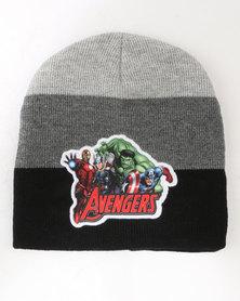 Character Brands The Avengers Basic Beanie Black/Grey