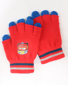 Character Brands Cars 2 Pack Gloves Red