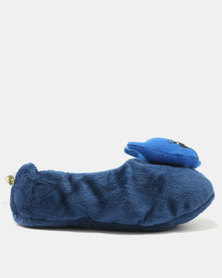 Character Brands Sherpa Batman Slippers Navy