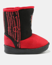 Character Brands Cars Ugg Boots Red