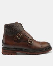Bronx Men Arden Leather Boots Cognac