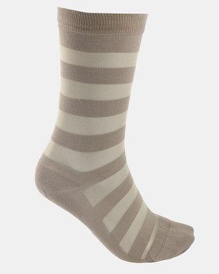Falke Sheer Stripe Socks Mink