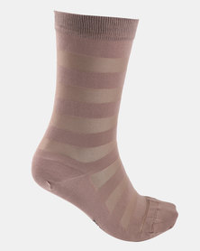 Falke Sheer Stripe Socks Cinnamon