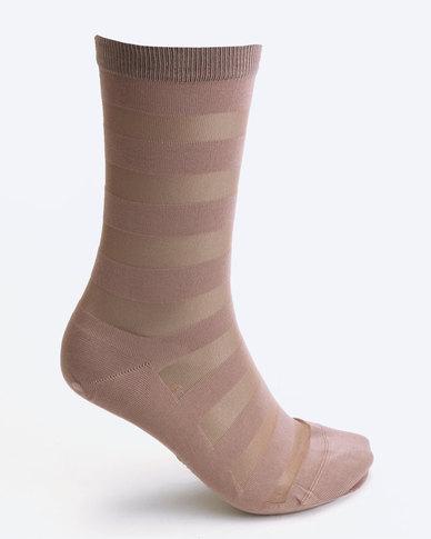 Falke Sheer Socks Stripe Neutral