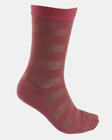 Falke Sheer Stripe Socks Rosy Blush