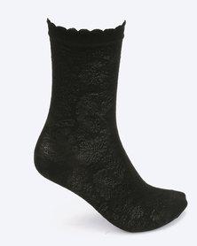 Falke Rococo Socks Black