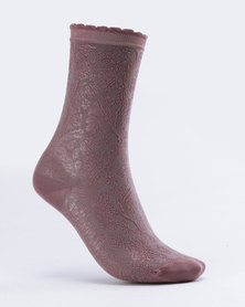 Falke Rococo Socks Lilac