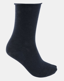 Falke Active Breeze Anklet Socks Navy Blue Melange