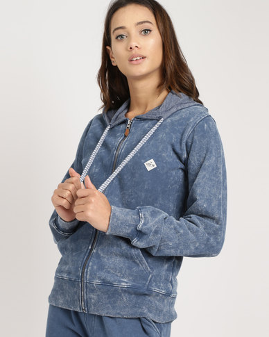 Lizzy Asta Zip Through Track Top Denim