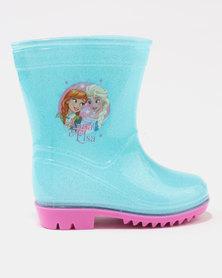 Character Brands Frozen Wellingtons Blue/Pink