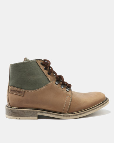 Bronx Men Jump Crazy Horse Boots Mushroom