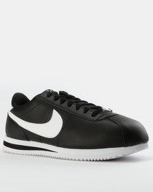 Nike Mens Cortez Basic Leather Sneakers Black/White