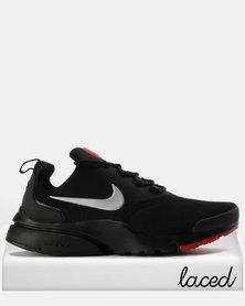 Nike Mens Presto Fly Sneakers Black/Red