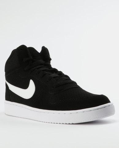 875d861370b308 Nike Men s Court Borough Mid Sneakers Black White
